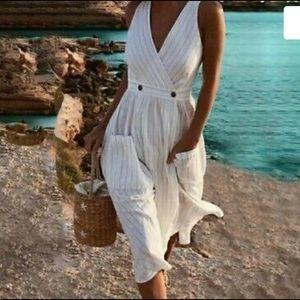 Free People Black Combo Diana Wrap Dress
